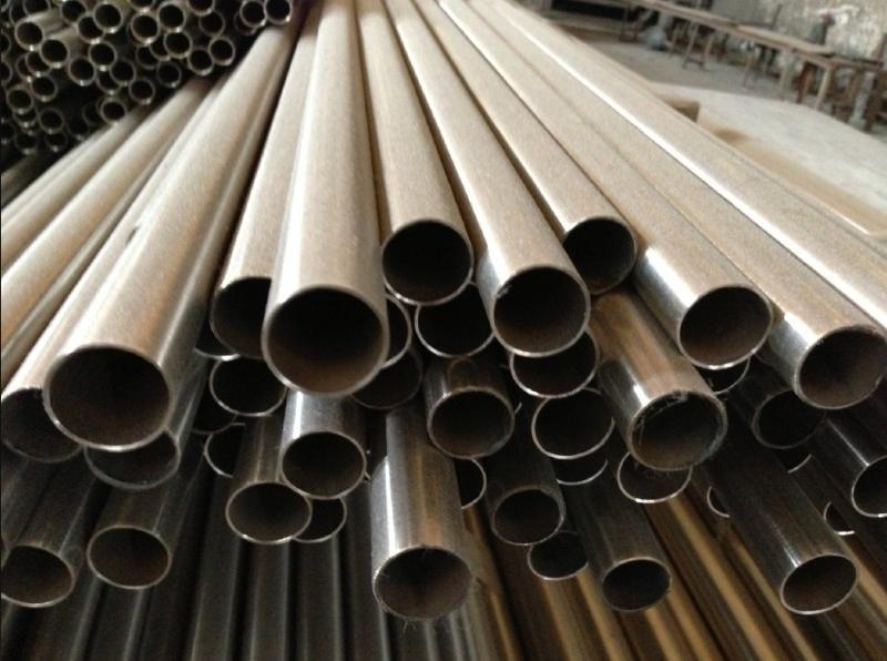 201半铜不锈钢管 顺德中铜不锈钢方管 矩形拉丝管