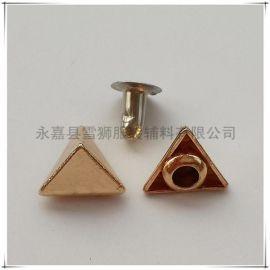 供应三角形尖顶铆钉 个性装饰撞钉 朋克帽钉