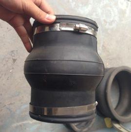 伸缩硅胶管 卡箍式 透明硅胶软连接 耐高温夹布硅胶软接头