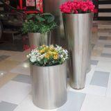 不鏽鋼圓桶形花盆 不鏽鋼花桶花箱廠家定做