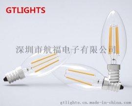 新款LED钨丝灯 led2W灯丝球泡灯 E14螺口 led灯钨丝灯 高流明