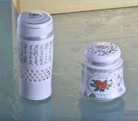 和瓷陶瓷神采飞扬水能杯茶叶罐两件套健康养生杯商务办公会议礼品