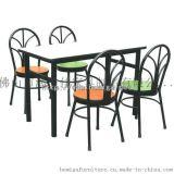 广东厂家定制四人位防火板台面员工餐桌椅