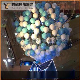 厦门玥诚展示玻璃钢 气球道具 烤漆电镀气球 展示 LV橱窗道具 厂家直供