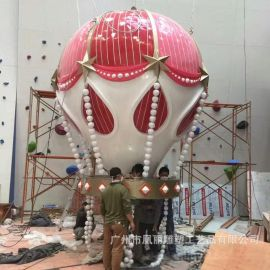 玻璃钢热气球 **大型美陈装饰雕塑 玻璃钢主题雕塑定制