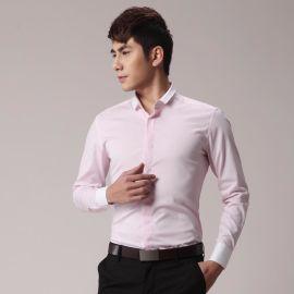 春秋男士修身韩版长袖衬衣青年撞色衬衫衬衣定做衬衫
