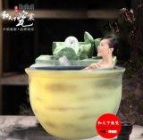 青花瓷养生泡澡缸 温泉养生泡澡缸 洗浴中心泡澡缸