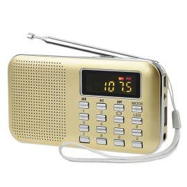 外贸Y-896多功能插卡收音机迷你插卡音箱老人插卡收音机超重低音