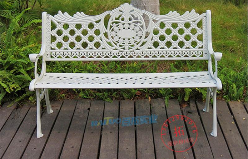 鑄鋁深圳公園長椅戶外園林椅鑄鋁長條座椅廣場椅可定製