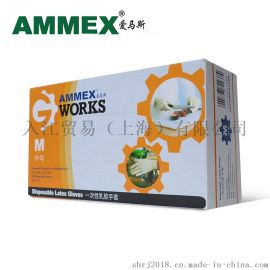 AMMEX爱马斯一次性TLFGWC一次性乳胶手套