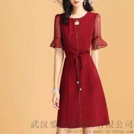 服装进货在哪里进货欧莱雨防嗮服七分袖印花连衣裙