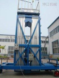 移动式小型液压多双桅柱铝合金升降机