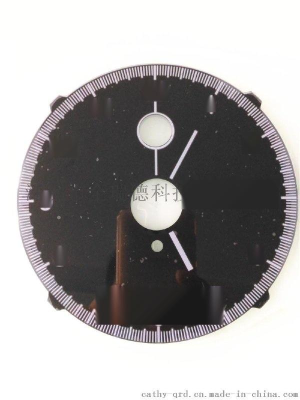 亞克力面板 2.0圓形 車載/設備儀表儀器面板亞克力絲印CNC精雕加工廠家