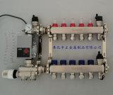 不锈钢智能地暖分集水器带混水中心