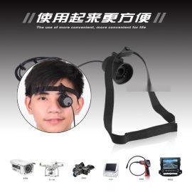 微型安防监控智能**瞄FPV航模头戴式单目眼镜显示器屏幕80寸**