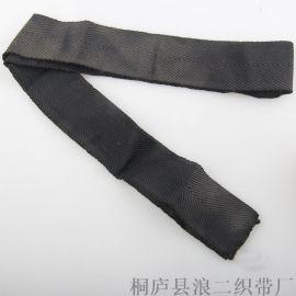 厂家钩编黑白松紧带可定制松紧弹力宽橡筋钩边扁松紧带