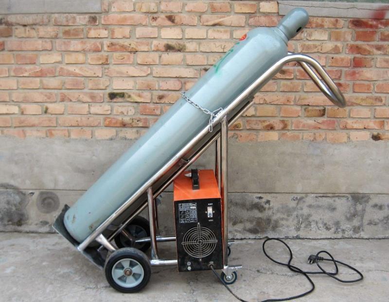 不锈钢40L氧气瓶专用推车气瓶推车大量现货销售