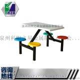 供應 晉江四人位玻璃鋼餐桌椅  可送貨上門安裝
