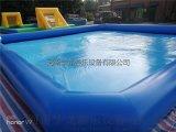 儿童充气水池摸鱼池手摇船池充气游泳池