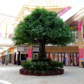 仿真包柱榕树仿真植物可定做室内外造景仿真树厂家直销