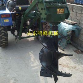 栽种树木拖拉机后置挖坑机,悬挂式钻树坑机