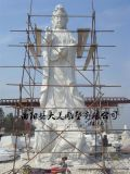 曲阳观音厂家  大型观音像 寺庙古建石像雕刻