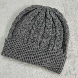 定制保暖针织帽 冬季儿童成人毛线针织帽子韩版条纹帽