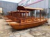 江南水乡仿古木船生产水上温州速度8km/s电动木船