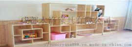 成都泸州幼儿园儿童玩具柜 木制玩具柜厂家
