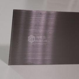 304仿高比发纹青黑装饰板 发纹青黑304不锈钢板