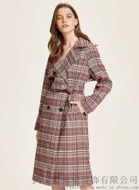 网上女装去哪拿货三彩20年春装新款女式风衣外套