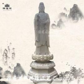 3.7米大型室外观音菩萨佛像 塑钢南海观音菩萨佛像