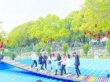 河北新年開春經營網紅橋搭配彩  紅橋氣墊