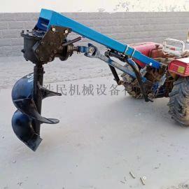 供应挖坑机 四轮拖拉机植树园林专用打坑机