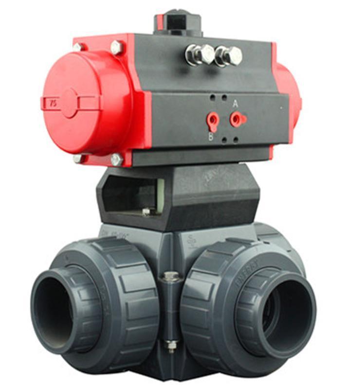 德国VATTENQ41F-16P 气动PVC三通球阀中德合资上海工厂  气动UPCV球阀