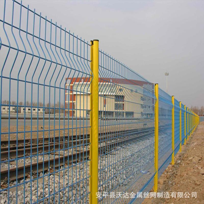 沃達桃型柱護欄網三角折彎護欄網小區別墅圍網防護網鐵絲網隔離柵