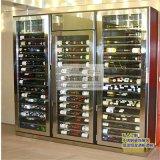 新款不鏽鋼酒櫃 酒店別墅紅酒架 展示架隔廳櫃定製