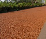 供应彩色生态透水混凝土地坪园林景观道路施工流程透水地坪工艺指导彩色透水混凝土