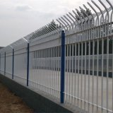 供應鋅鋼鐵藝小區圍牆護欄別墅庭院廠區鍍鋅管圍牆護欄廠家批發