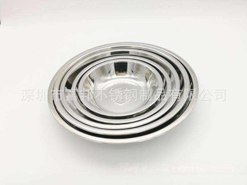 食品級304不鏽鋼圓菜盤分菜碟不鏽鋼圓盤水果盤