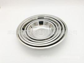 食品级304不锈钢圆菜盘分菜碟不锈钢圆盘水果盘