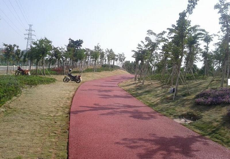 桓石HS-2017006上海贵州彩色透水混凝土透水地坪艺术地坪环保排水砼道路铺装