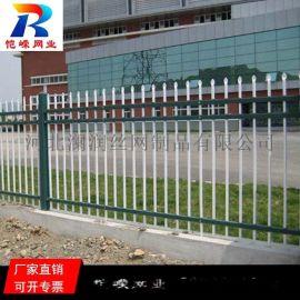 南昌绿化隔离带折弯铁栅栏 花园钢制铁艺弯头围栏