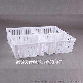 养鸡场用塑料鸡苗箱 天仕利四格鸡苗箱 鸡鸭苗塑料箱