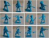 怀旧美国战争士兵模型玩具牛仔勇士印第安土著兵人5cm军队