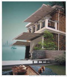 上海遮阳蓬,固定棚装饰,室外遮阳伞