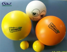 各种规格颜色PU圣诞球工艺品 高回弹弹力光面球摆件
