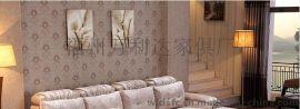 沙发 布艺沙发 皮布沙发 欧式客厅转角沙发 贵妃三人组合简约家具