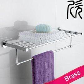 欣吉安804-12全銅浴室毛巾杆 浴巾架帶杆 毛巾架
