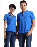 工作服厂家生产翻领文化衫定制 可定做指定颜色翻领T恤可加印广告